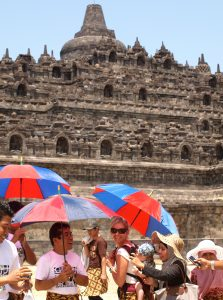 Backpacking with a baby SE Asia Borobudur temple