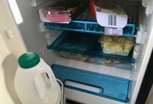 The motorhome fridge