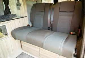 The back seats in Plum