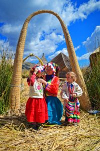 Lake Titicaca Floating village,