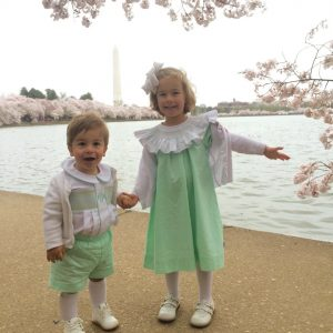 Kids in front of DC pond